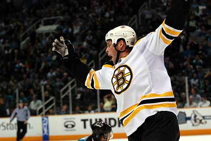 Boston Bruins Aaron Ward game winning goal