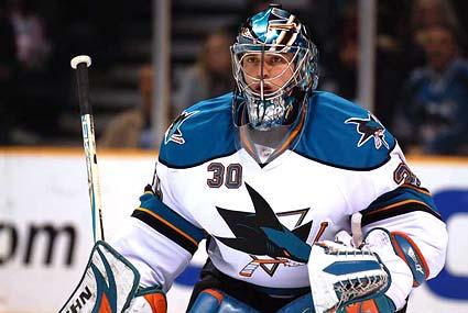 San Jose Sharks goaltender Dimitri Patzold