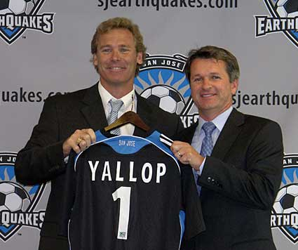 MLS San Jose Earthquakes general manager John Doyle and head coach Frank Yallop