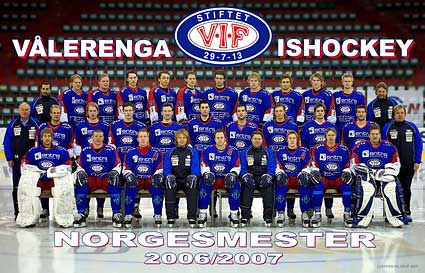 2006-07 Norwegian Valerenga team hockey photo
