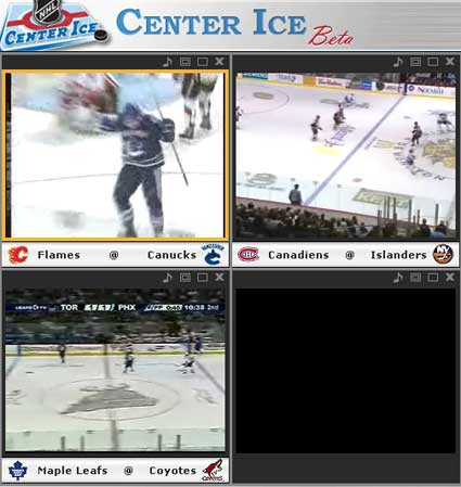 NHL.tv Center Ice Online PPV hockey