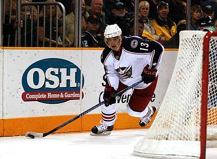 Columbus Blue Jackets right wing Nikolai Zherdev