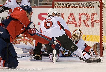 Washington Capitals Ottawa Senators NHL photo Allen Clark