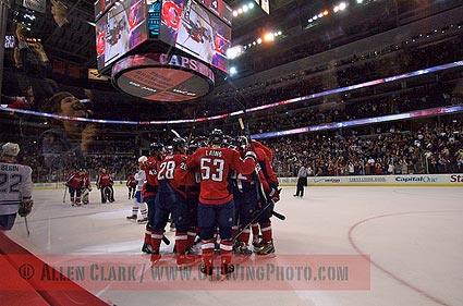 Washington Capitals hockey photo Allen Clark