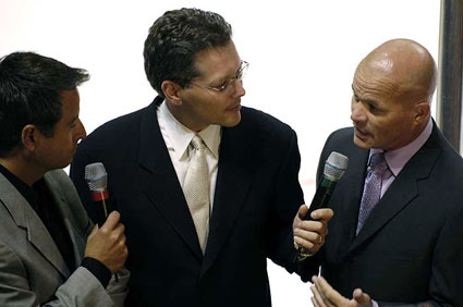 Drew Remenda, Randy Hahn, and Dan Rusanowsky discuss the preseason home opener against Los Angeles in 2005