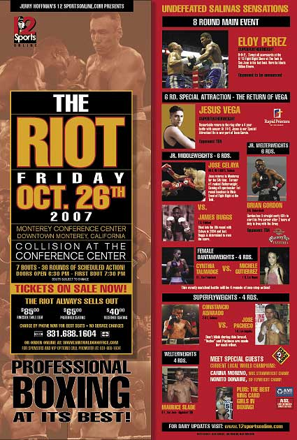 Riot Boxing Monterey Conference Center
