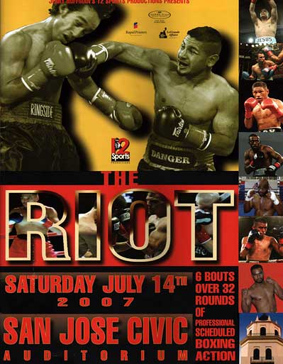 Jerry Hoffman Riot Boxing San Jose Civic Auditorium