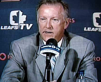 Toronto Maple Leafs head coach Ron Wilson