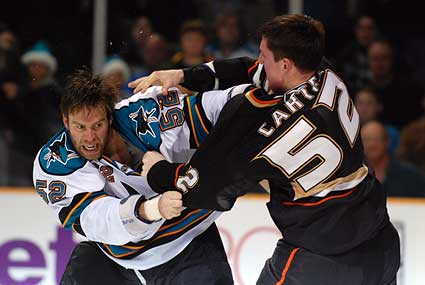 Craig Rivet Ryan Carter hockey fight