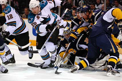 San Jose Sharks vs Buffalo Sabres ice hockey