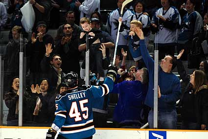 San Jose Sharks Jody Shelley