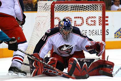 Columbus Blue Jackets goaltender Pascal Leclaire