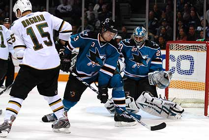 San Jose Sharks Dallas Stars Mike Modano goal