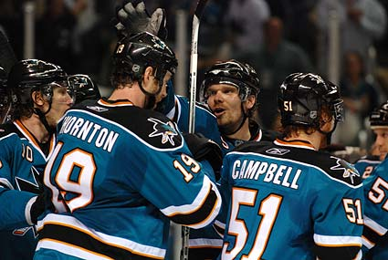 San Jose Sharks left wing Milan Michalek