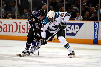 San Jose Sharks Mike Grier Los Angeles Kings Michael Cammalleri