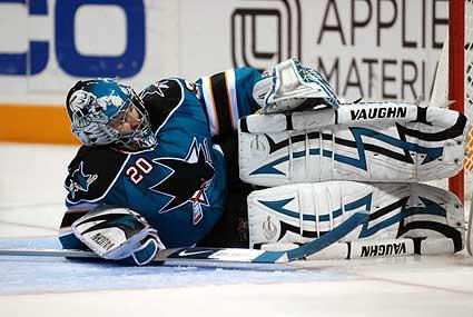 San Jose Sharks goaltender Evgeni Nabokov