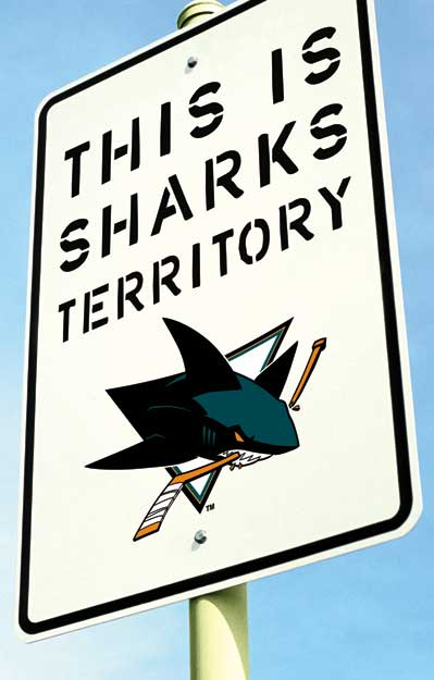 new San Jose Sharks territory sign