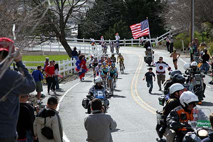 Tour of California Sierra Road cycling hill climb San Jose