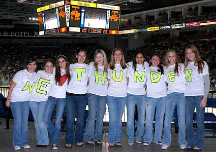 Stockton Thunder ECHL hockey fans