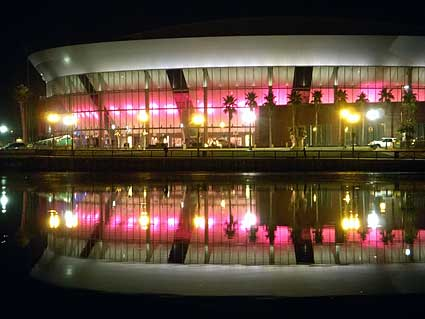Stockton Arena goes pink breast cancer
