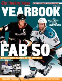 THN The Hockey News Sporting News 2008-09 NHL yearbook