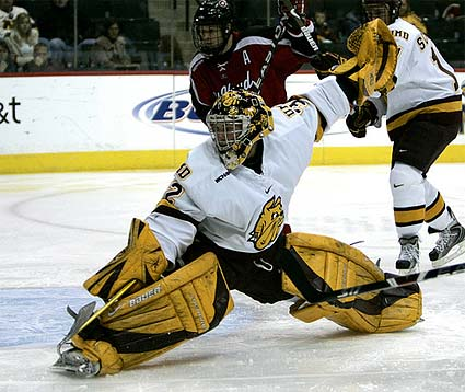 Minnesota Duluth goaltender Alex Stalock photo Brace Hemmelgarn