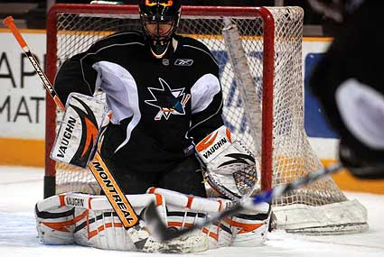 San Jose Sharks NHL goaltender photo Brian Boucher