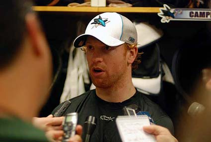 San Jose Sharks Brian Campbell NHL media photo