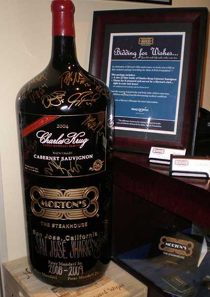 Charles Krug 27 liter primat bottle