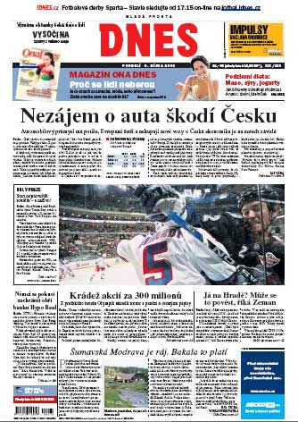 New York Rangers Tampa Bay Lightning front page DNS Czech Republic