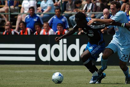 2008 San Jose Earthquakes Kei Kamara Nick LaBrocca