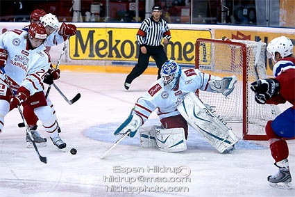 Team Danmark goaltender Patrick Galbraith photo Espen Hildrup