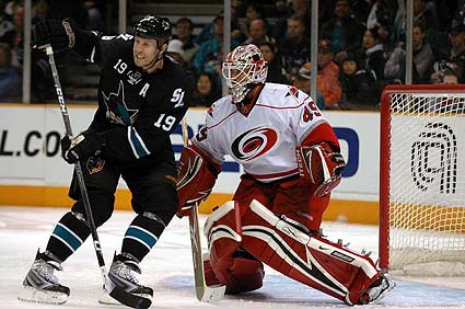 San Jose Sharks center Joe Thornton photo