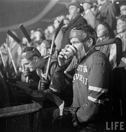 Boston University hockey photo 1951 life magazine google Yale Joel