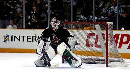 Phoenix Coyotes goaltender Sean Burke Stanley Cup Playoffs