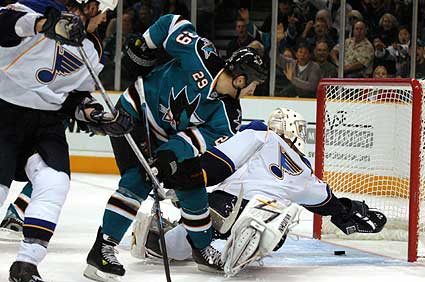 St Louis Blues goaltender Ben Bishop Maine