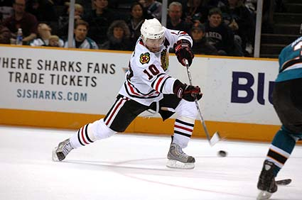 San Jose Sharks Chicago Blackhawks NHL photo gallery Patrick Sharp