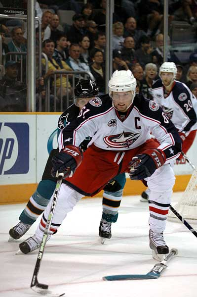 Columbus Blue Jackets captain NHL 2k9 cover athlete Rick Nash