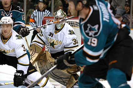 San Jose Sharks Dallas Stars hockey photo