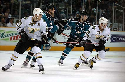 San Jose Sharks Dallas Stars NHL hockey photo
