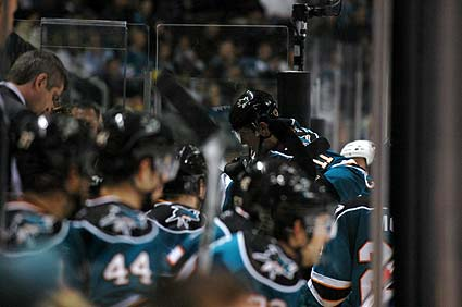 San Jose Sharks center Marcel Goc injury