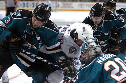San Jose Sharks vs Edmonton Oilers NHL hockey photos