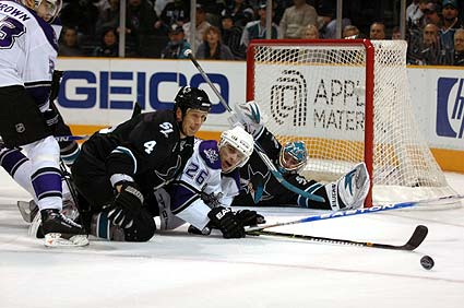 Los Angeles Kings San Jose Sharks NHL hockey photo