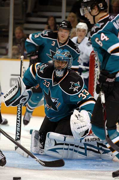 San Jose Sharks goaltender Brian Boucher