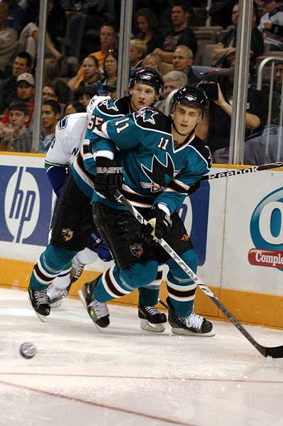 San Jose Sharks Marcel Goc Mike Moore