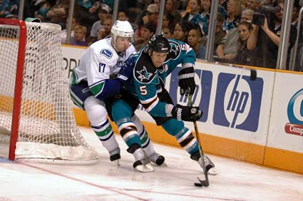 San Jose Sharks defenseman Rob Blake