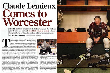 Sports Illustrated Claude Lemieux article