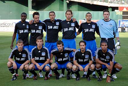 2008 San Jose Earthquakes starting squad vs Los Angeles