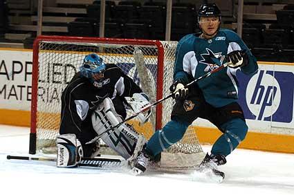 San Jose Sharks Claude Lemieux Brian Boucher
