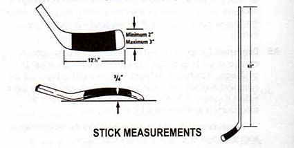 NHL rules official hockey stick measurements